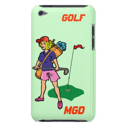 Lady golfer ready for the challenge iPod touch case