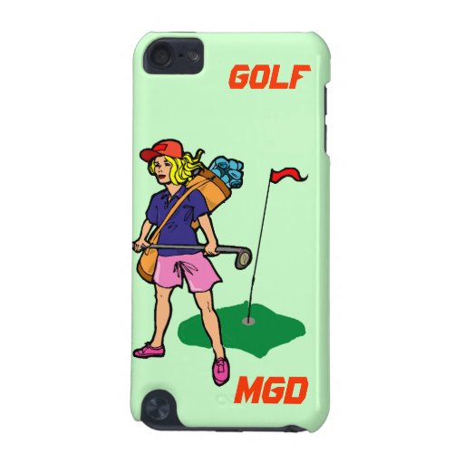 Lady golfer ready for the challenge iPod touch 5G cover