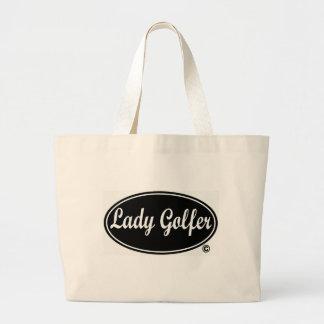 Lady Golfer Tote Bag Tote Bag
