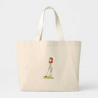Lady Golfer Tote Bag