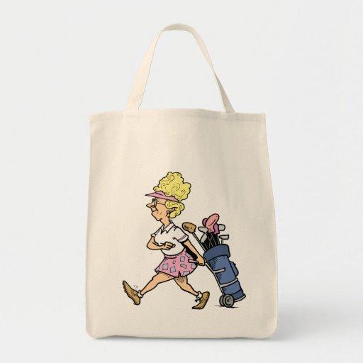 Lady Golfer Tshirts and Gifts Bag