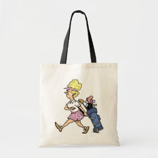 Lady Golfer Tshirts and Gifts Tote Bags