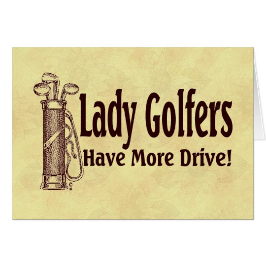 Lady Golfers Card