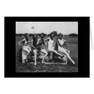 Lady Golfers Love Ice 1926 Card
