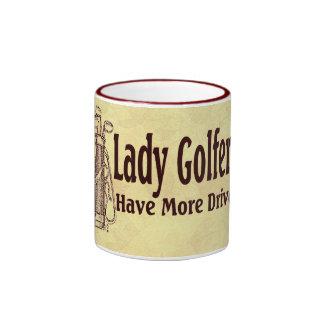 Lady Golfers Ringer Mug