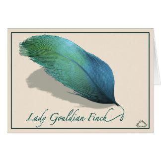 Lady Gouldian finch - Card