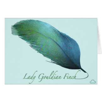 Lady Gouldian Finch Tail Card