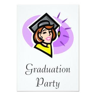 Lady Grad 13 Cm X 18 Cm Invitation Card