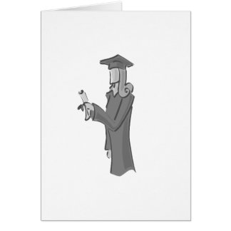 Lady Graduating Greeting Card