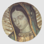Lady Guadalupe Classic Round Sticker