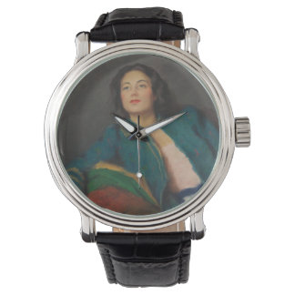 Lady Holding a Book Wrist Watches