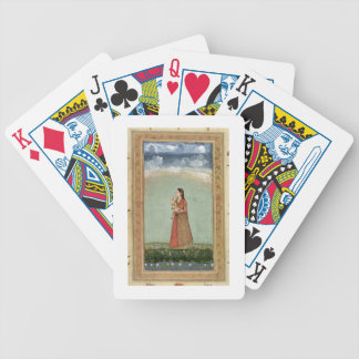 Lady holding a bowl of roses, from the Small Clive Bicycle Playing Cards