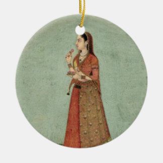Lady holding a bowl of roses, from the Small Clive Christmas Ornament