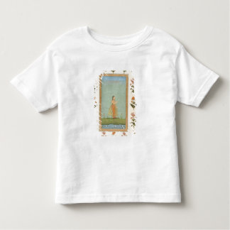 Lady holding a flower, standing by a lily pond, fr toddler T-Shirt