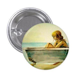 Lady in a Bathtub Button