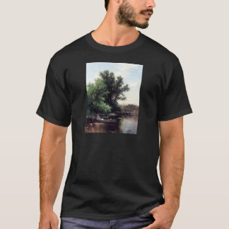 Lady in a boat antique painting T-Shirt