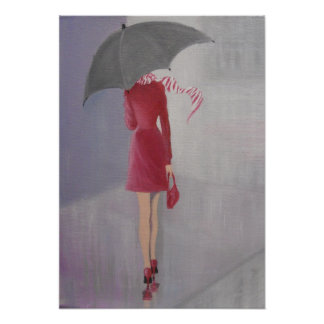 LADY IN A RED DRESS POSTER