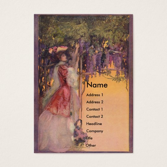 Lady in a Wisteria Garden Business Card