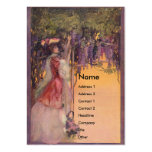 Lady in a Wisteria Garden Business Card Template