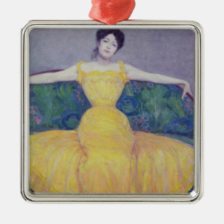 Lady in a Yellow Dress, 1899 Christmas Ornament