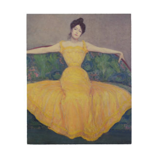 Lady in a Yellow Dress, 1899 Wood Wall Decor