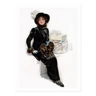 Lady in Black Postcard