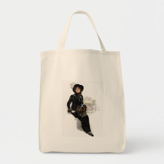 Lady in Black Tote Bag