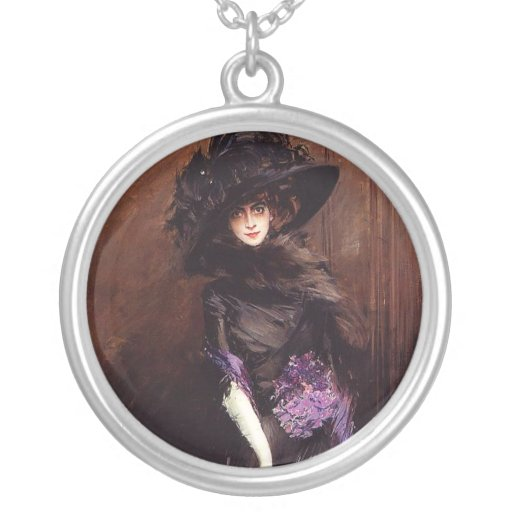 Lady in Black with a Greyhound Necklace