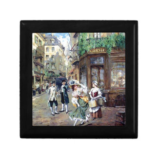 Lady in Europe antique painting Small Square Gift Box