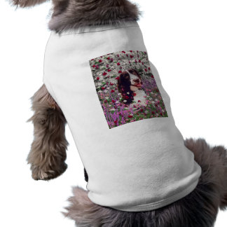 Lady in Flowers - Brittany Spaniel Dog Pet Tee