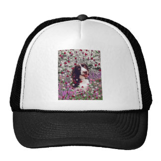 Lady in Flowers - Brittany Spaniel Dog Hat
