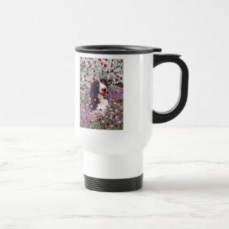 Lady in Flowers - Brittany Spaniel Dog Mug