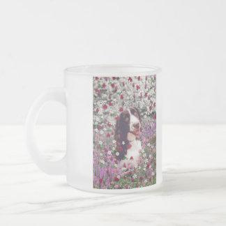 Lady in Flowers - Brittany Spaniel Dog Mugs