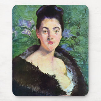 Lady in Fur by Edouard Manet Mouse Pad