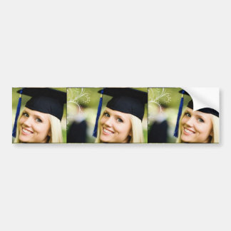 Lady in Grad Hat Bumper Stickers
