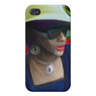 lady in hat iPhone 4 case