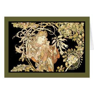 Lady in Jasmine Vines Card