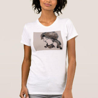 Lady in Mocha Shirt