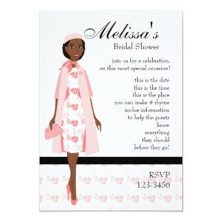 Lady In Pink 13 Cm X 18 Cm Invitation Card