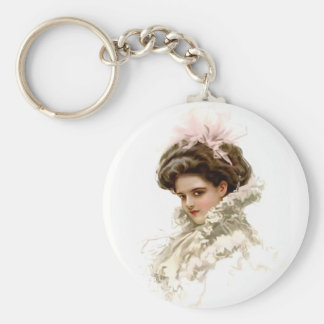 Lady in Profile Key Ring