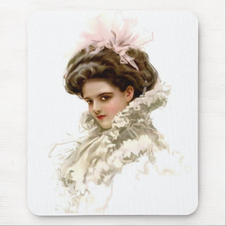 Lady in Profile Mouse Mat