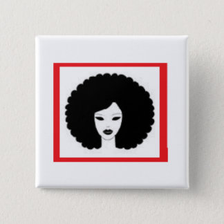 Lady in Red 15 Cm Square Badge