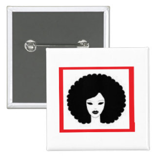Lady in Red Pinback Button