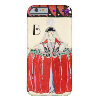 LADY IN RED,BEAUTY FASHION COSTUME DESIGN MONOGRAM BARELY THERE iPhone 6 CASE