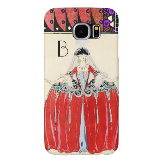 LADY IN RED,BEAUTY FASHION COSTUME DESIGN MONOGRAM SAMSUNG GALAXY S6 CASES