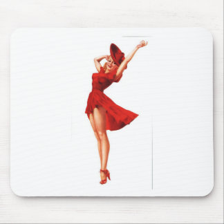 Lady In Red design Mouse Pad