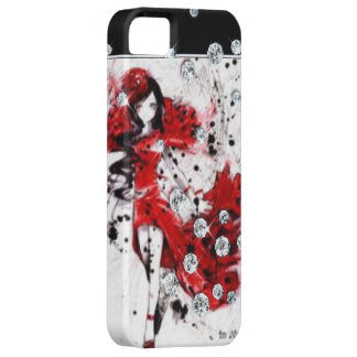 Lady In Red Dress iPhone 5 Covers
