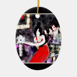 """ Lady in Red "" Ornament"