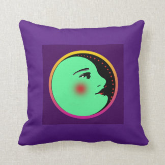 "Lady in the Moon 16""x16"" Throw Pillow"