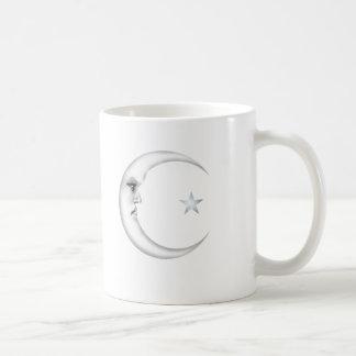 Lady in the Moon Basic White Mug